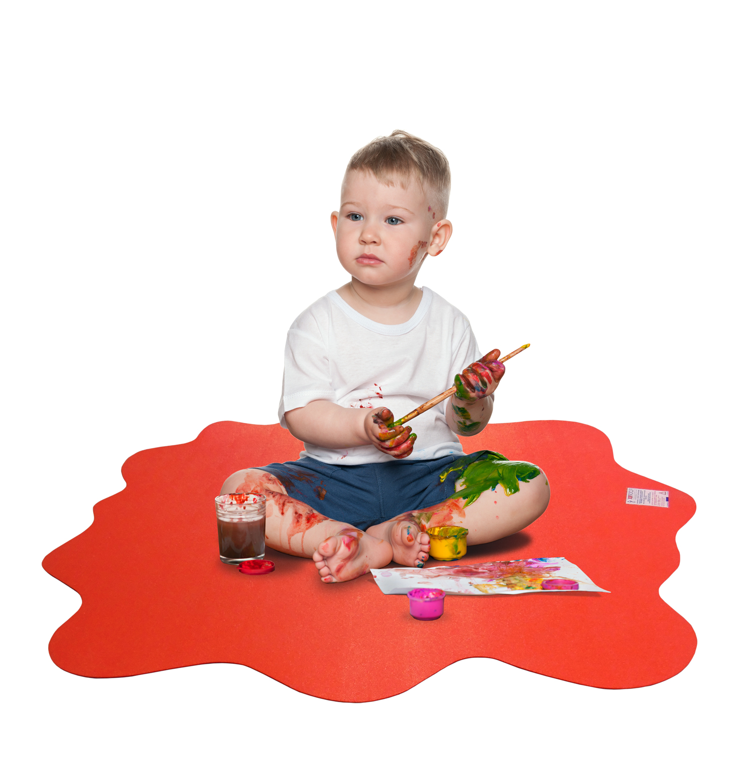 Floortex Multi Purpose High Chair Play Mat Smooth Back For Use On Hard Floors Volcanic Red 40 X Max