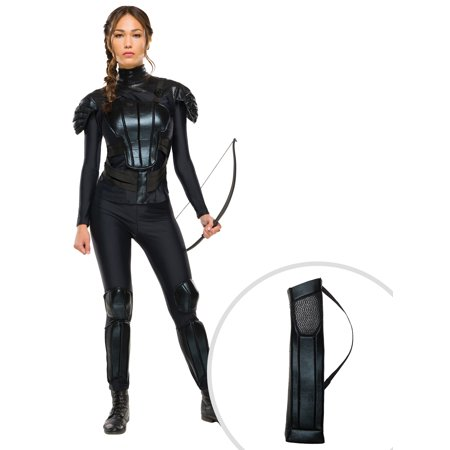 Mockingjay The Hunger Games Katniss Everdeen Adult Costume and The Hunger Games Katniss Everdeen Quiver (Katniss Everdeens Bow)