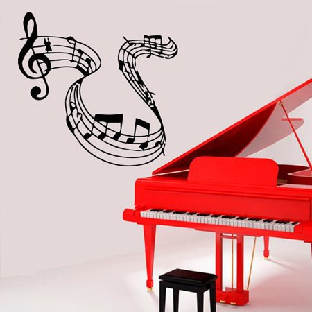 Stickalz llc Musical Notes Vinyl Decal Sticker Treble Clef Wall Art ...