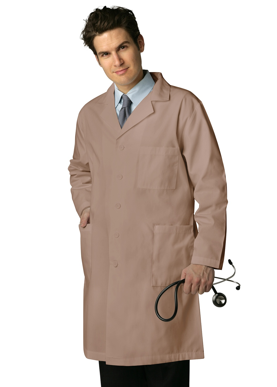 "ADAR UNIFORMS Adar Universal Mens 39"" Labcoat with Inner Pockets - 803 - Burgundy - 38"