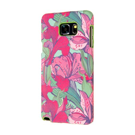 Kit System Signature Case - Samsung Galaxy Note 5 Case - Pink Lily Blossoms, Signature Series Slim-Fit Case for Samsung Galaxy Note 5