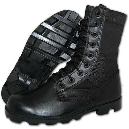 AMERICAN SHOE FACTORY 8 Inch G.I. Combat Leather Jungle Boots,
