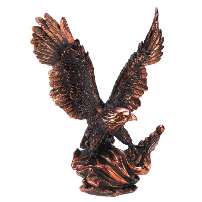 EAGLE IN FLIGHT STATUE
