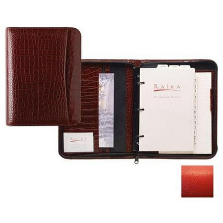 Raika Ro 204 Red 3 Ring Zipper Agenda   Red