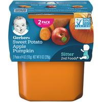 (Pack of 8) Gerber 2nd Foods Baby Food, Sweet Potato Apple Pumpkin, 2-4 oz Tubs