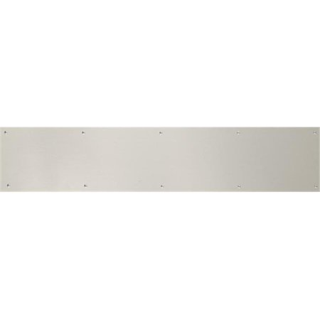 BRASS Accents A09-P0630-670ADH 6 in. x 30 in. Kick Plate Satin Nickel-Aluminum Adhesive Mount