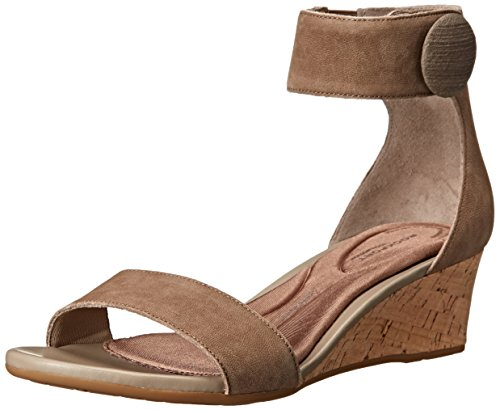 Rockport Women's Total Motion Stone Ankle Wedge Sandal