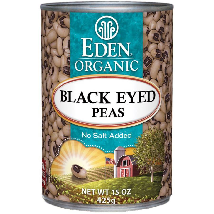 Eden Black Eyed Peas, Organic, 15 Ounce (Pack of 6)