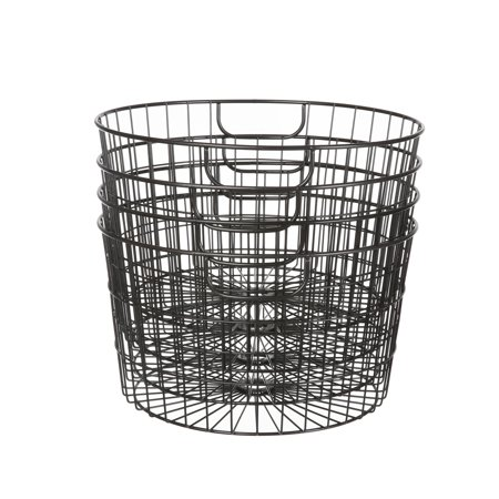 Mainstays 4 Pack Rustic Round Wire Baskets