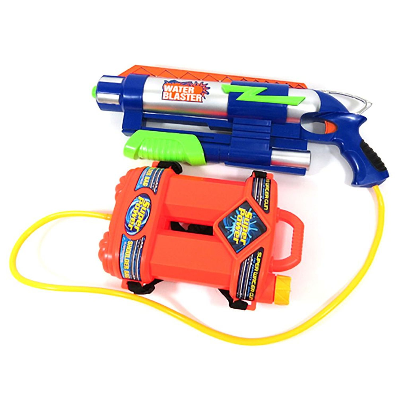 "18"" High Pressure Water Gun Power Pump Blaster Summer Beach Toys (White)"