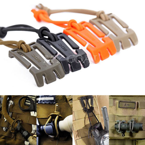 Elastic Cord Hang Buckle For Backpack And MOLL Webbing Management Tool