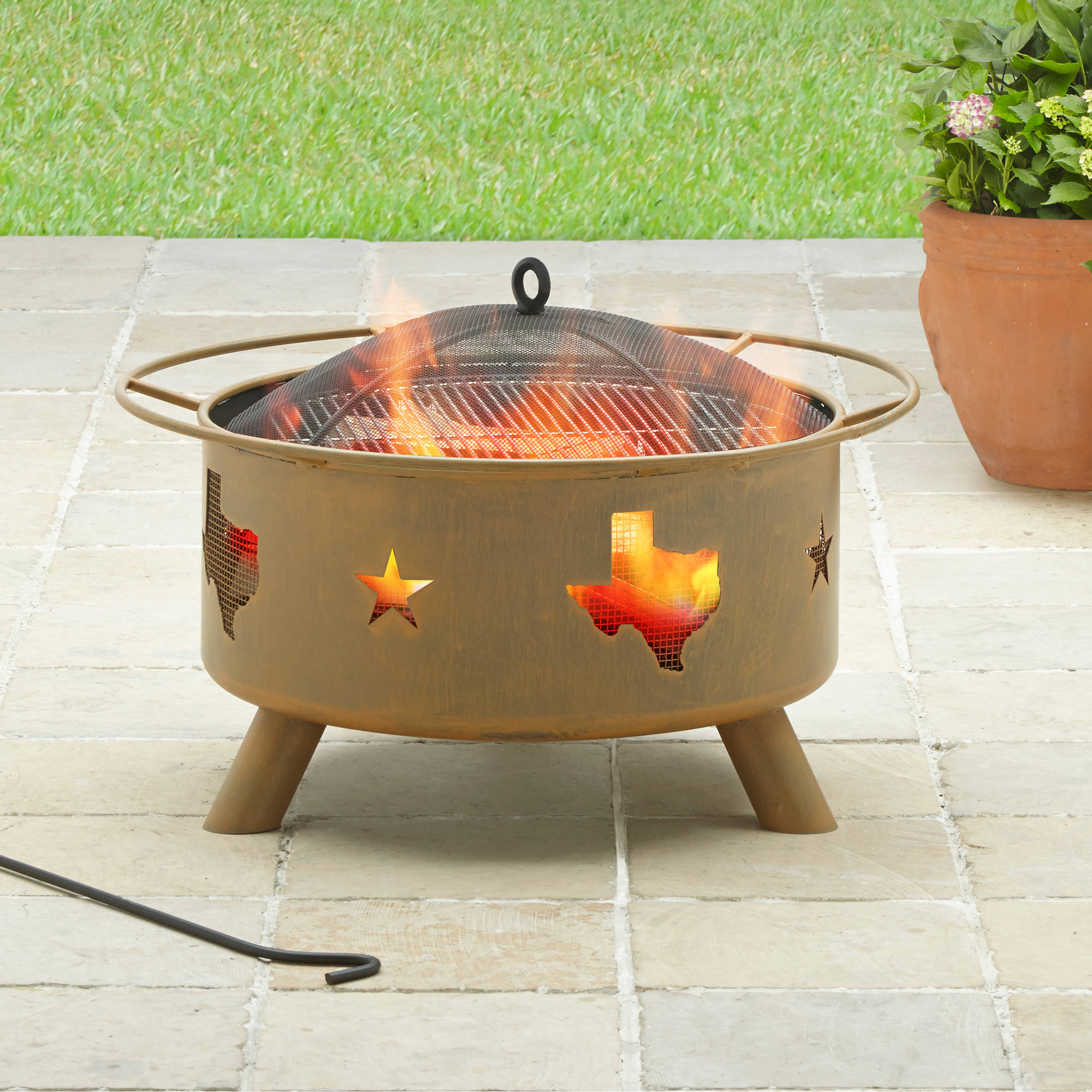 Better Homes and Gardens 28 Texas Heavy Duty Fire Pit Walmartcom