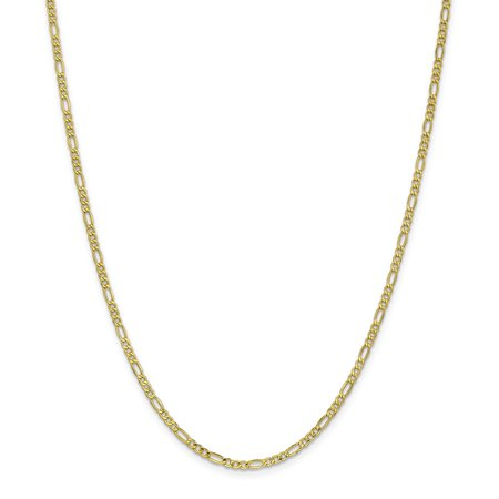 Roy Rose Jewelry 10K Yellow Gold 2.5mm Figaro Chain ~ length: 16 inches