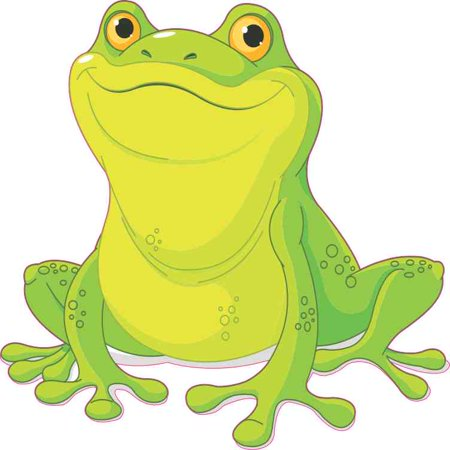 5X5 Smiling Frog Sticker Vinyl Cup Decal Truck Window Car Bumper Stickers Decals