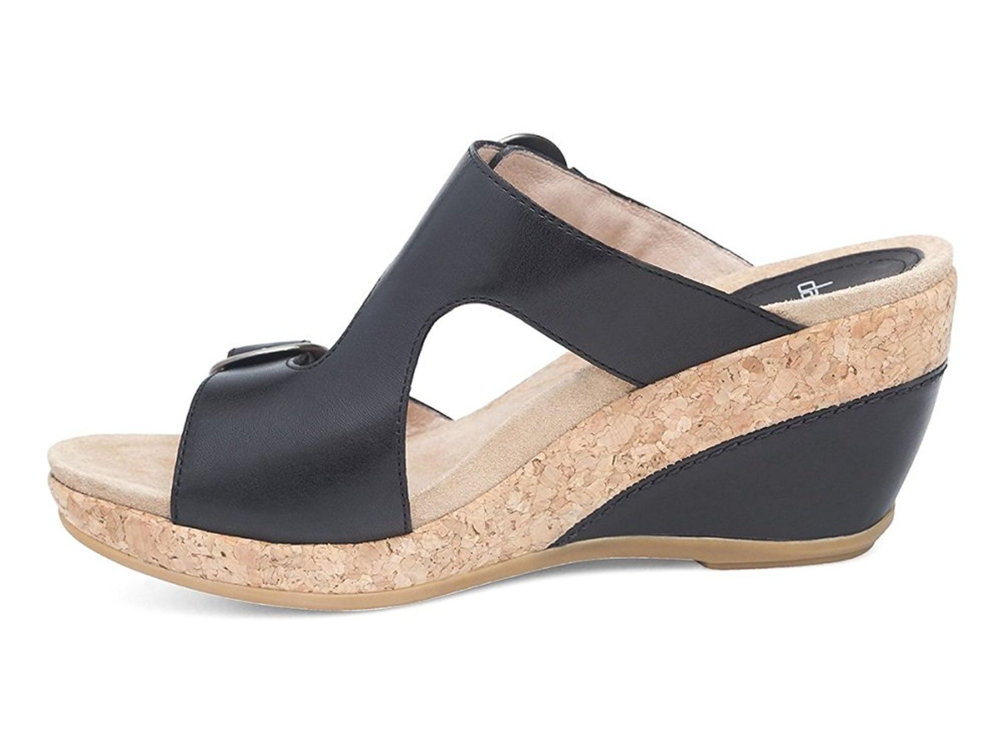 e896c49b298 Dansko Womens Carla Leather Open Toe Casual Platform Sandals