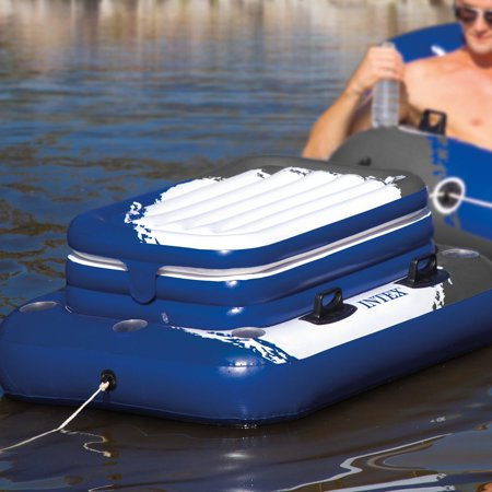 Intex Oasis Island 5 Person Floating Raft Amp Mega Chill Ii