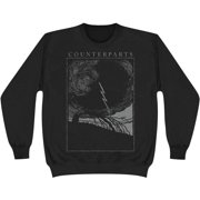 Counterparts Men's  Outcast Black On Black Sweatshirt Black