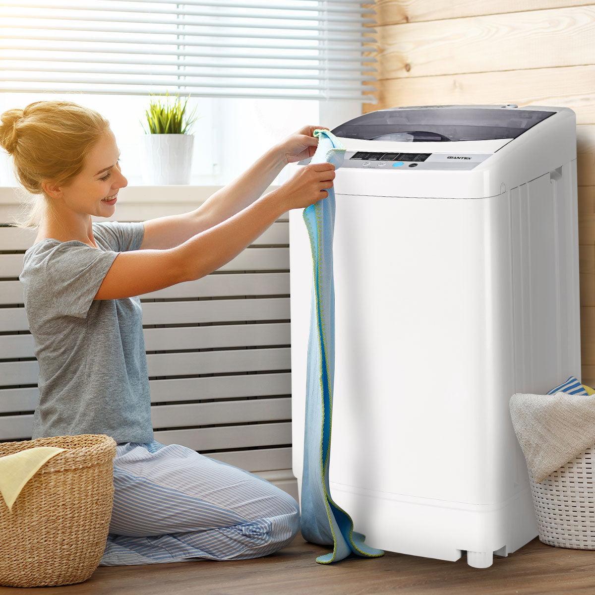 Giantex Portable Washing Machine Spin Compact Washer 1.6 ...