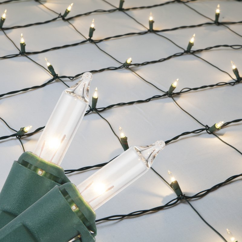 Holiday Bright Lights 150BX-NET-CL Christmas Net Light Set, Commercial-Grade, Clear, 4 x 6-Ft. by HOLIDAY BRIGHT LIGHTS