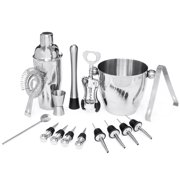 Best Choice Products 16-Piece Stainless Steel Bartender Mixology Set w  Ice Bucket, Cocktail Shaker, Strainer Silver by Best Choice Products
