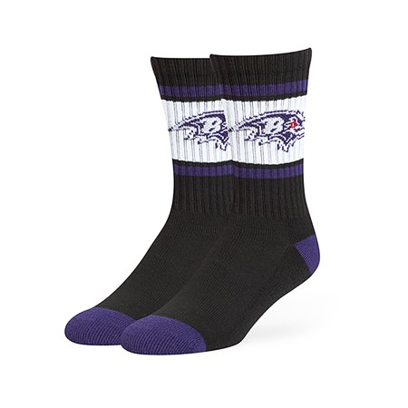 NFL Baltimore Ravens Dawson Crew Crew Socks by Fan Favorite Baltimore Ravens Womens Socks