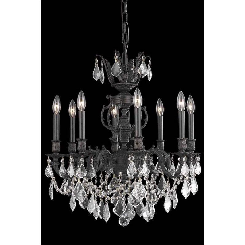 Elegant Lighting Marseille 24 Quot 8 Light Elements Crystal