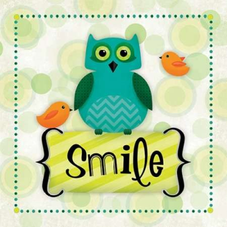 Owl Smile Poster Print by R2 Squared (Smiling Owl)