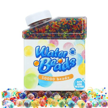 Beads Variety Pack (Water Beads Pack (50000 Beads) Rainbow Mix Jelly Water Growing Balls for)