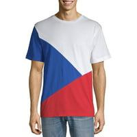 No Boundaries Men's Tri Panel T-Shirt
