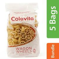 (5 Pack) Colavita Wagon Wheels Pasta, 1 Lb