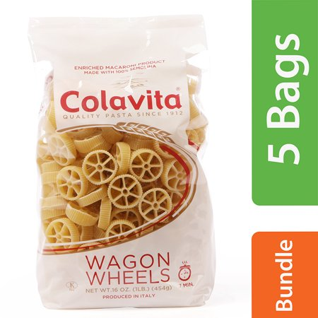 (5 Pack) Colavita Wagon Wheels Pasta, 1 Lb