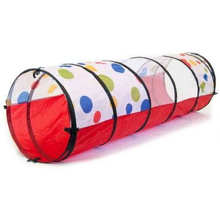 Fashion Polka Dot Tote - eWonderWorld Jumbo Polka Dot Development Crawl Play Tunnel with Safety Meshing and Tote Bag, 20