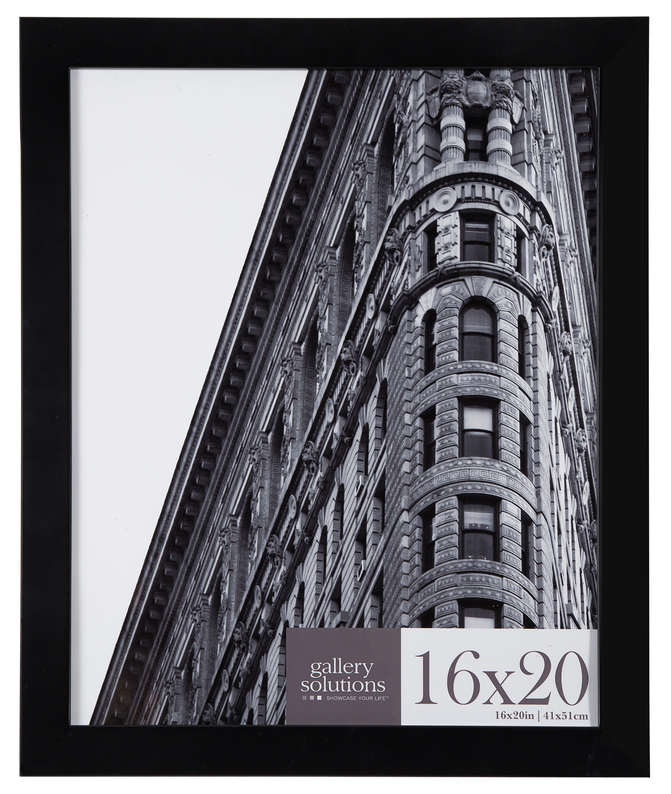 16x20 Black Flat Large Wall Frame by Pinnacle