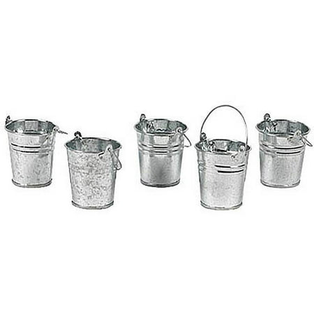 Mini Metal Buckets, Set of 12 - Colored Metal Buckets