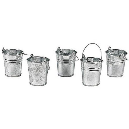 Mini Metal Buckets, Set of 12 - Galvanized Buckets Wholesale