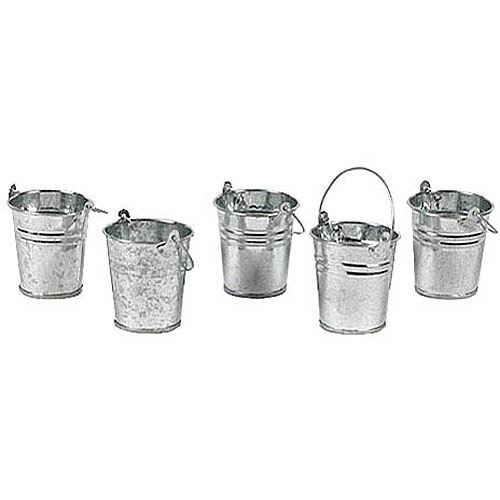 Mini Metal Buckets, Set of 12