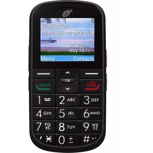 TracFone Alcatel Big Easy 382 Prepaid Cell Phone with Double Minutes for Life