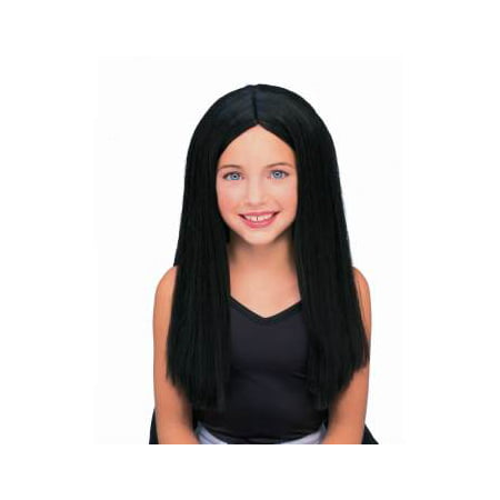 CHILD LONG BLACK WIG](Cheap Black Wigs)