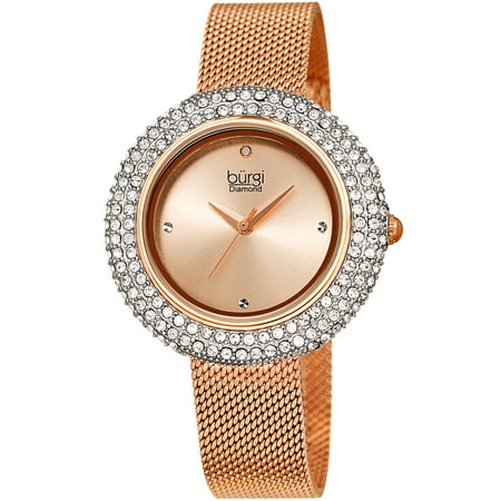 Rose Gold Tone Wrist Watch [BUR220RG] Analog Gold Tone Wrist Watch