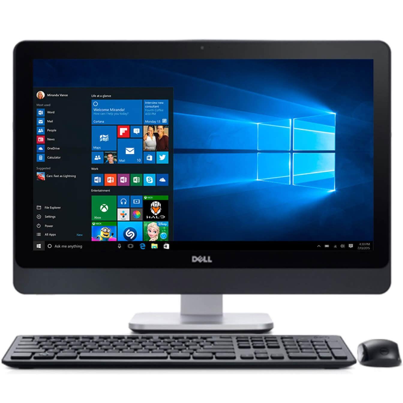"Refurbished Dell Optiplex 9020 23"" All In One Desktop Computer Intel i5-4570S 8GB 500GB W10P by Dell"