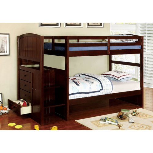 Harriet Bee Moses Twin over Twin Bunk Bed