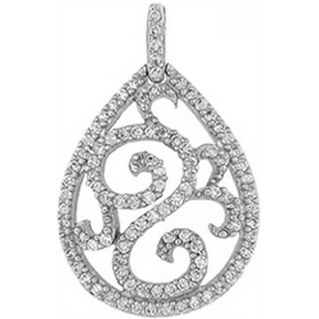 Doma Jewellery DJS03152 Sterling Silver (Rhodium Plated) Pendant with CZ