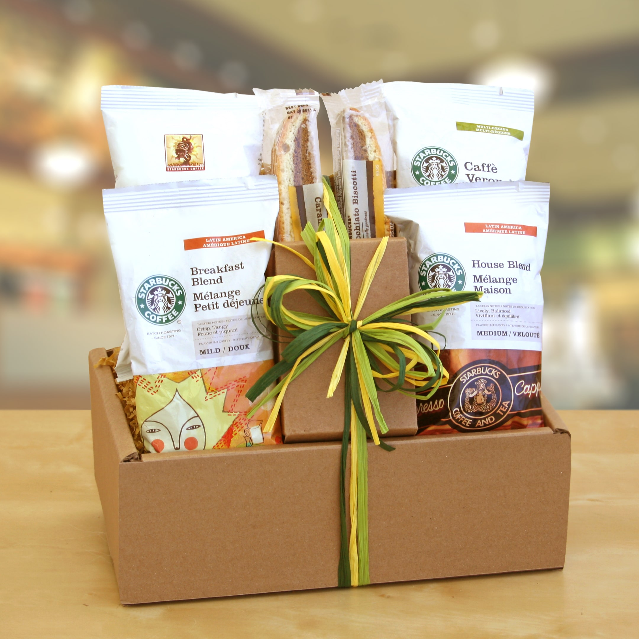 Givens & Company California Delicious Starbucks Sampler Gift Box