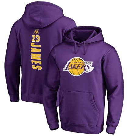 low priced 7df8e 442a7 LeBron James Los Angeles Lakers Fanatics Branded Big & Tall Backer Pullover  Hoodie - Purple - Walmart.com
