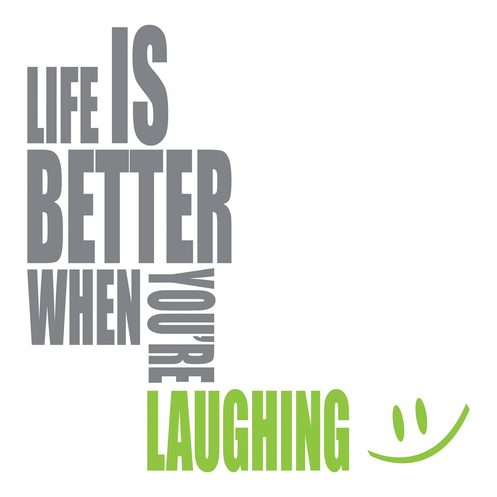 Home Decor Line Laughing Wall Quote
