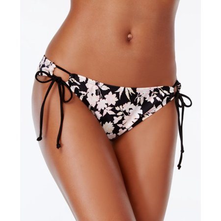 BIKINI NATION $28 NEW 5353 Printed Side Tie Bikini Womens Swim Bottom M](Tie Side Bikini Bottoms)