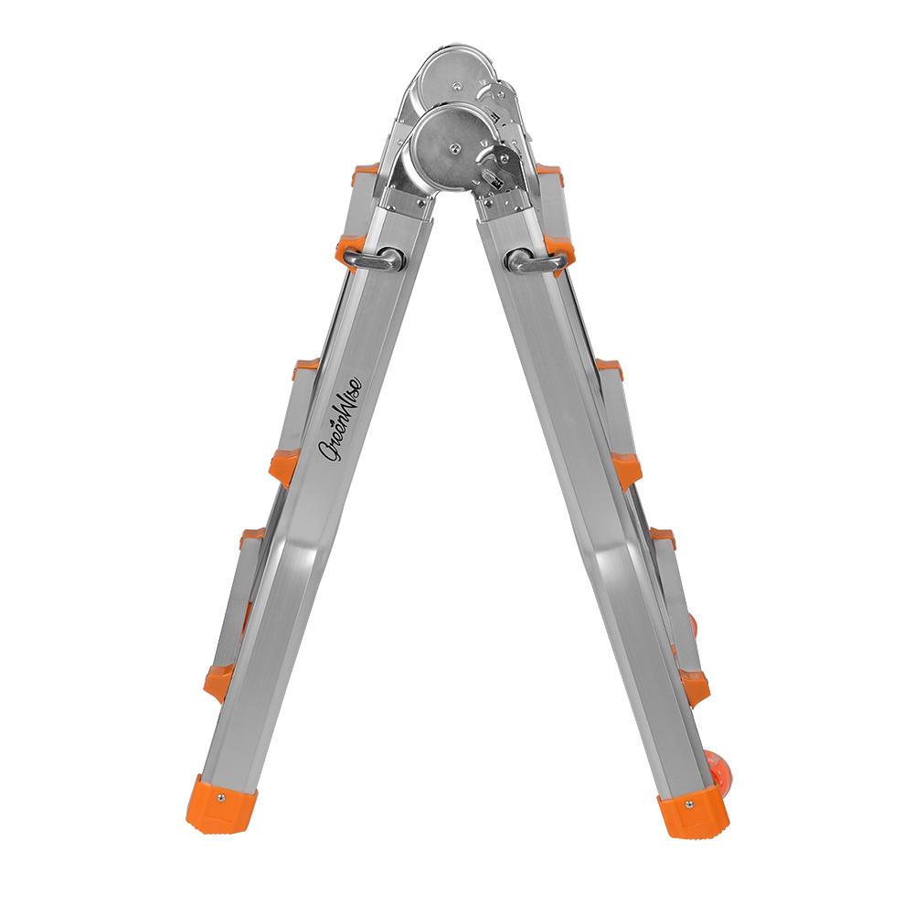9.4ft Lightweight Telescopic Ladder with Safety Locker & Non-slip mat, 330 Pound Capacity- GreenWise™ - image 1 de 6