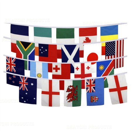 10m Football World Cup Bunting 32 Flags Fabric Decorations](Buy Bunting Flags)