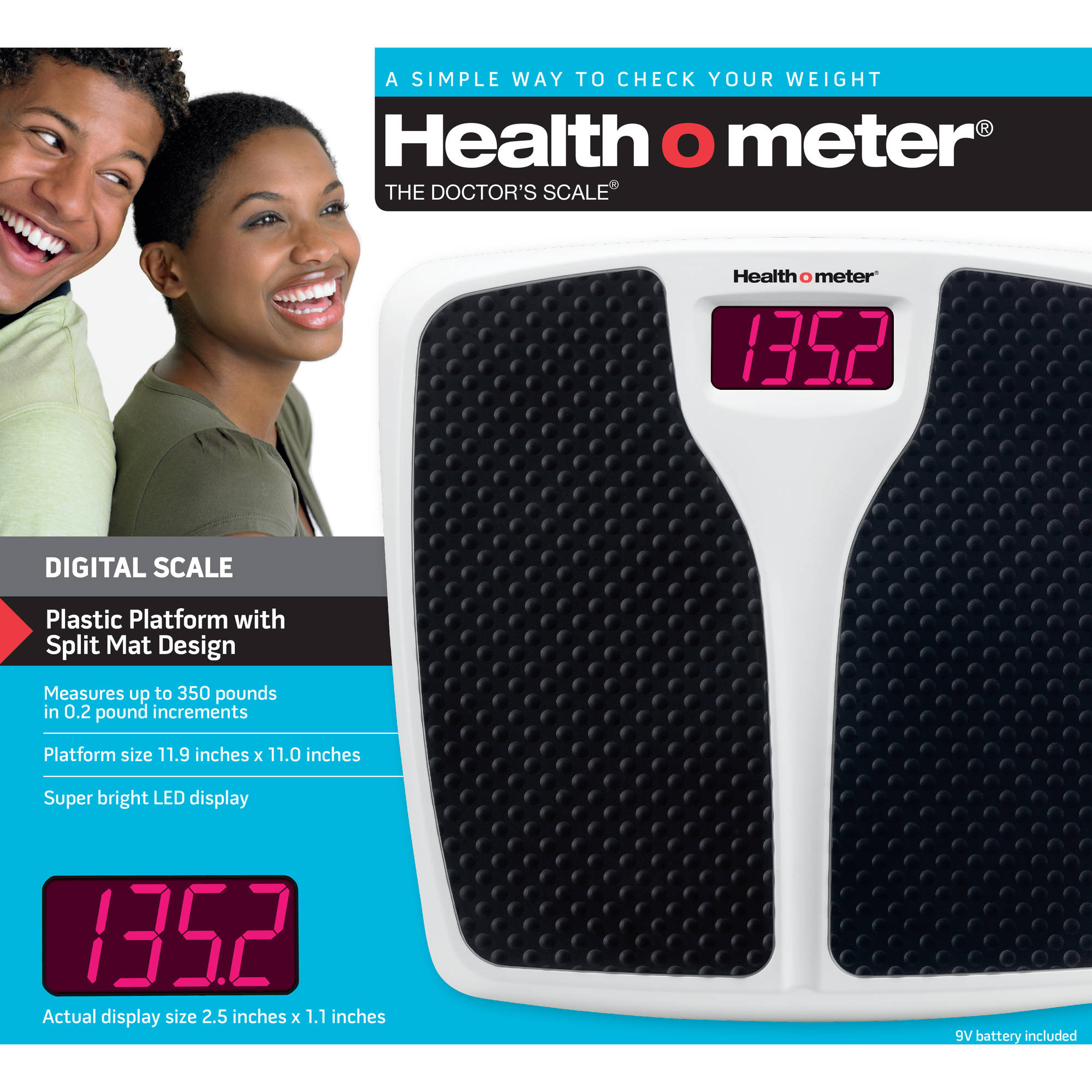 bathroom scale walmart.  Health o meter LED Split Mat Bath Scale Walmart com