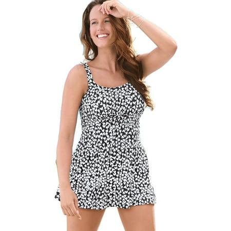 8c5d7fe1dd5d9 Just My Size - A Shore Fit Women`s Empress One-Piece Swimdress, 22962, 14W  - Walmart.com